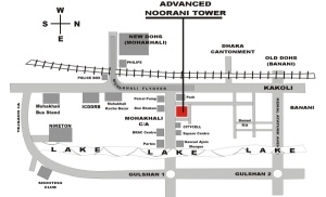 Map Noorani Tower
